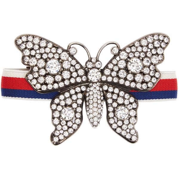 Gucci Crystal-embellished butterfly brooch