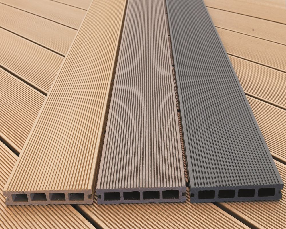 4m WPC Wood Plastic Composite decking boards, 150 x 25mm at