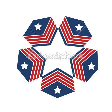 Abstract America American Art Badge Banner Blue Color Design Design Element Emblem Flag Free Eagle Graphic Vector Icon Ilration Map