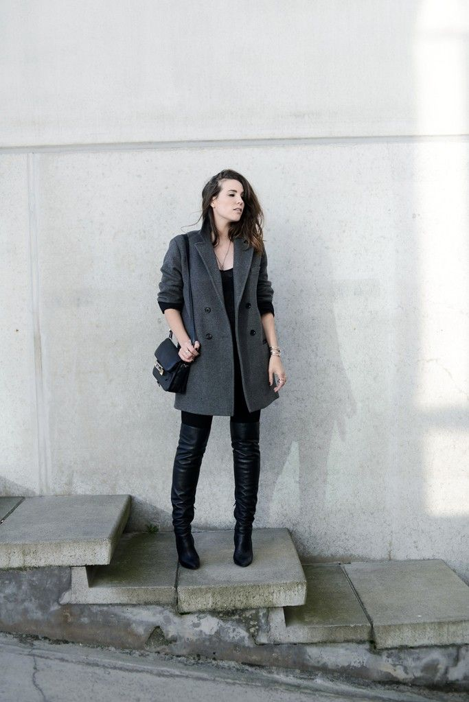 Outfit The Year After Cottds Alexander Sofia Thigh High Boots Zara Tee