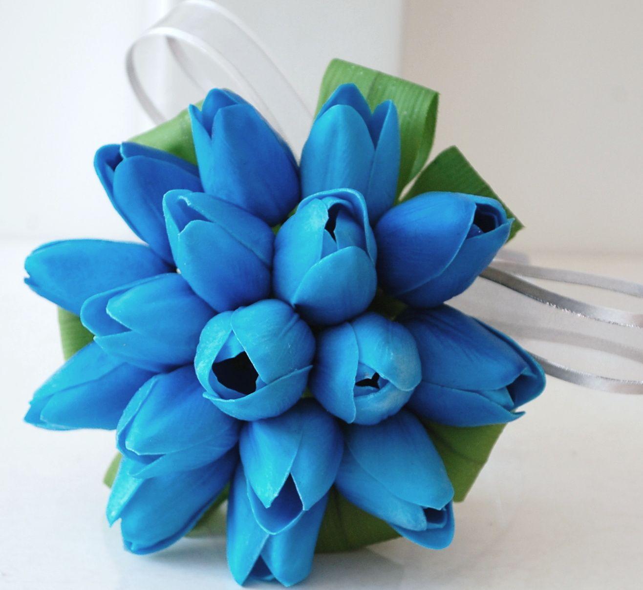 Blue Tulip Bouquet Wedding Flower Guide Blue Flowers Bouquet Flower Bouquet Wedding