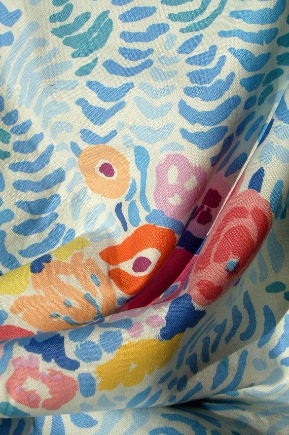 Vintage Brunschwig & Fils medium-weight decorator fabric, pattern San Marino, 1982, designed by John Botz