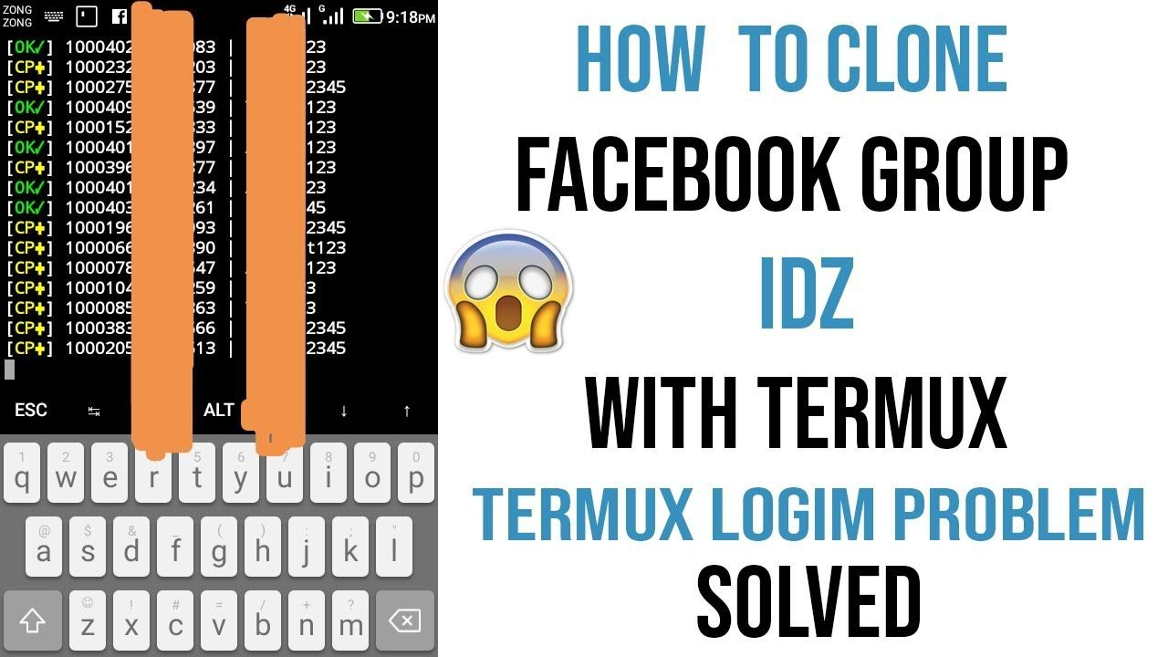 How To Clone Facebook Idz With Termux Termux Login Problem