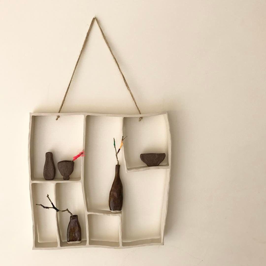 Pottery wall art decor interior ceramics clay craft design