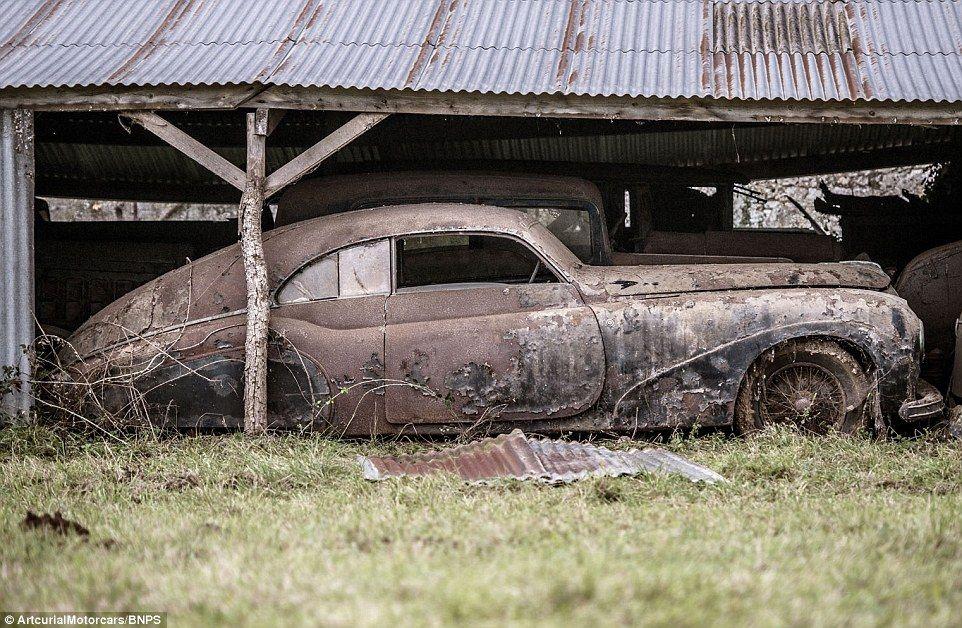 60 Classic cars worth £12MILLION found in French farm garage ...