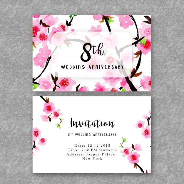 Watercolor floral wedding anniversary invitation free vector https watercolor floral wedding anniversary invitation free vector httpsift2i3hkk1 stopboris Image collections