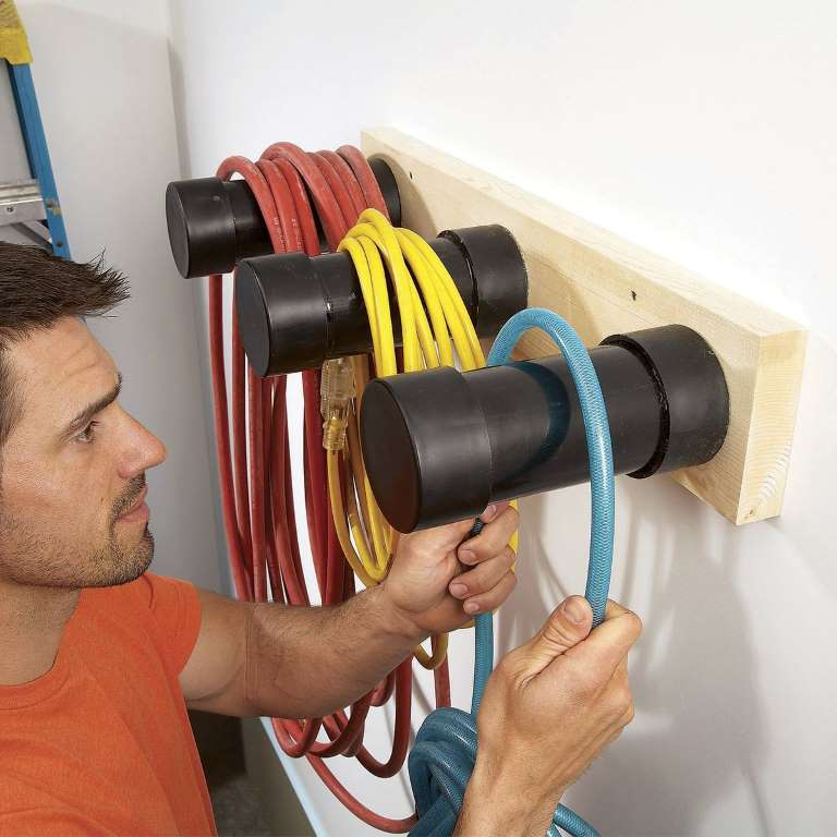 cord and hose hooks family handyman garage on best garage organization and storage hacks ideas start for organizing your garage id=26381