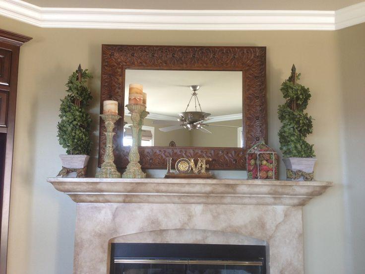 Fireplace mantle decor Fireplace Decor Fireplace mantle, Decor
