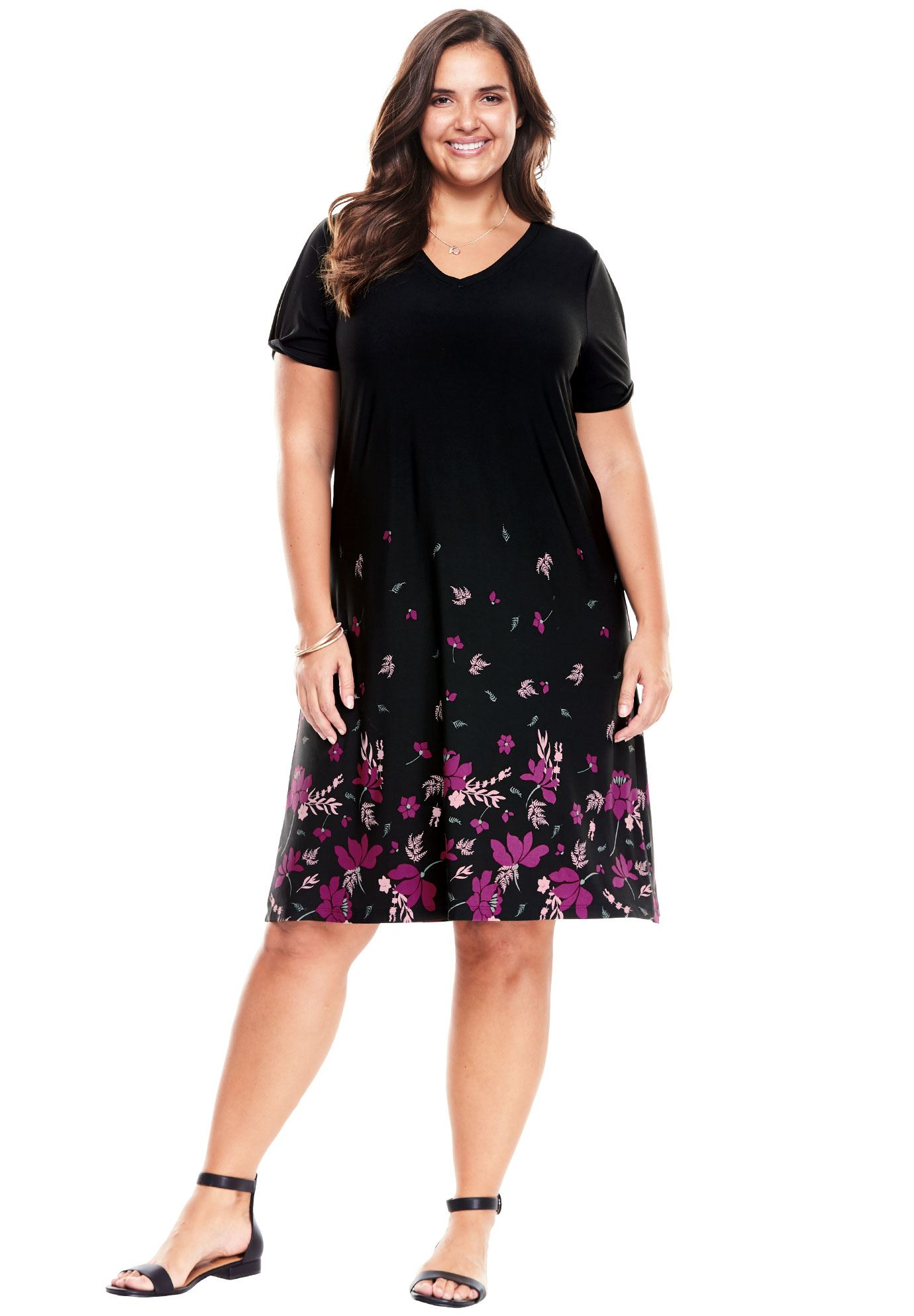 Twist sleeve dress womenus plus size clothing products