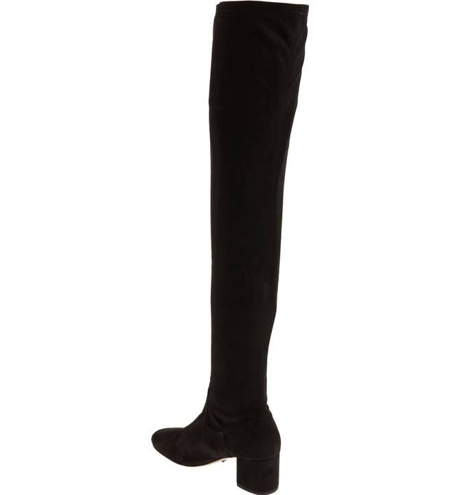 Bianco Suede Over Knee Women Black 2018 Newest S1KP3