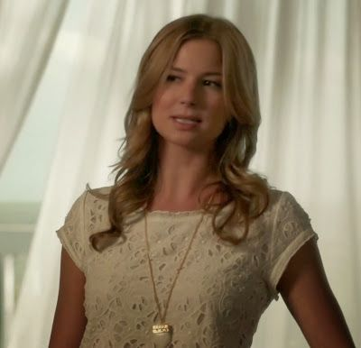 "Emily's Joie Basillica Lace-Eyelet Top Revenge Season 3, Episode 3: ""Confession"" - Spotted on TV"