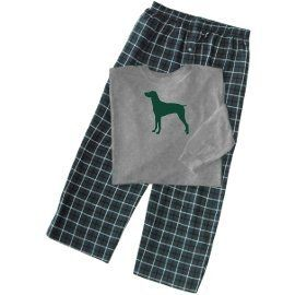 German Short-Haired Pointer Men's Flannel Plaid Pajamas with ...