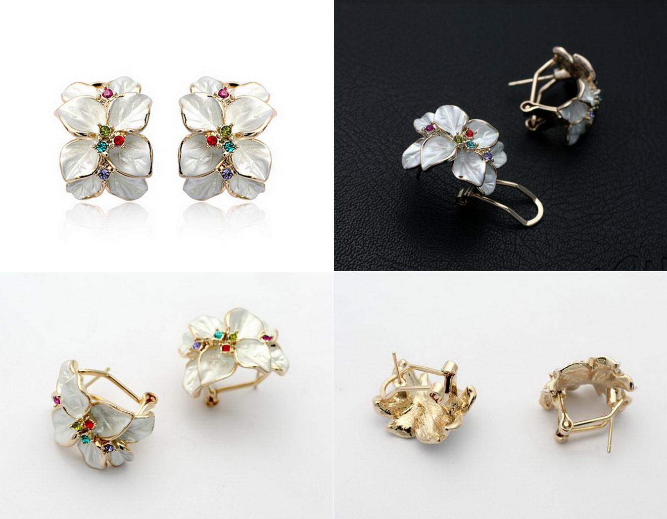 Elegant White Flower Earrings