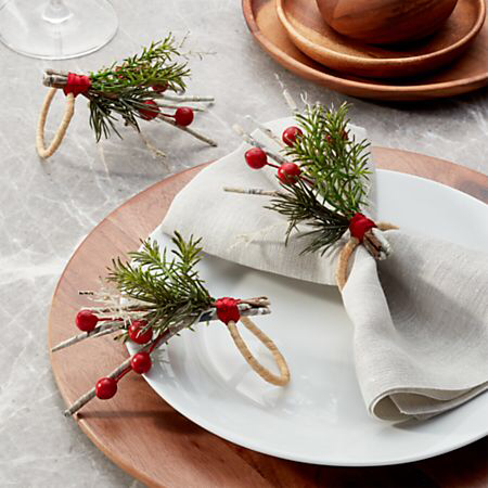 Photo of Paper Twig Napkin Ring + Reviews | Crate and Barrel
