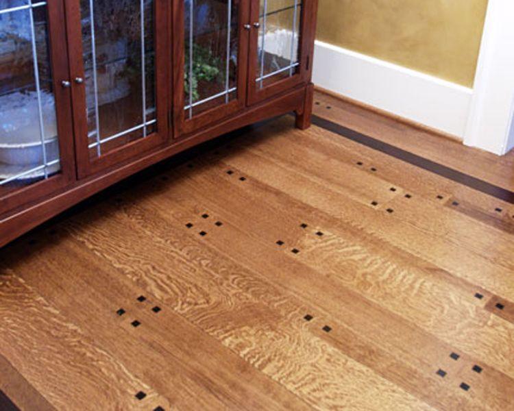 Quarter Sawn White Oak Random Width Plank Floor With Black Walnut Pegs And Border Natural Finish Oak Wood Floors Barry House Hardwood