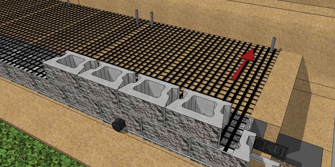 Cornerstone 100 Geogrid Wall Cornerstone Wall Solutions Backyard Retaining Walls Building A Retaining Wall Concrete Retaining Walls