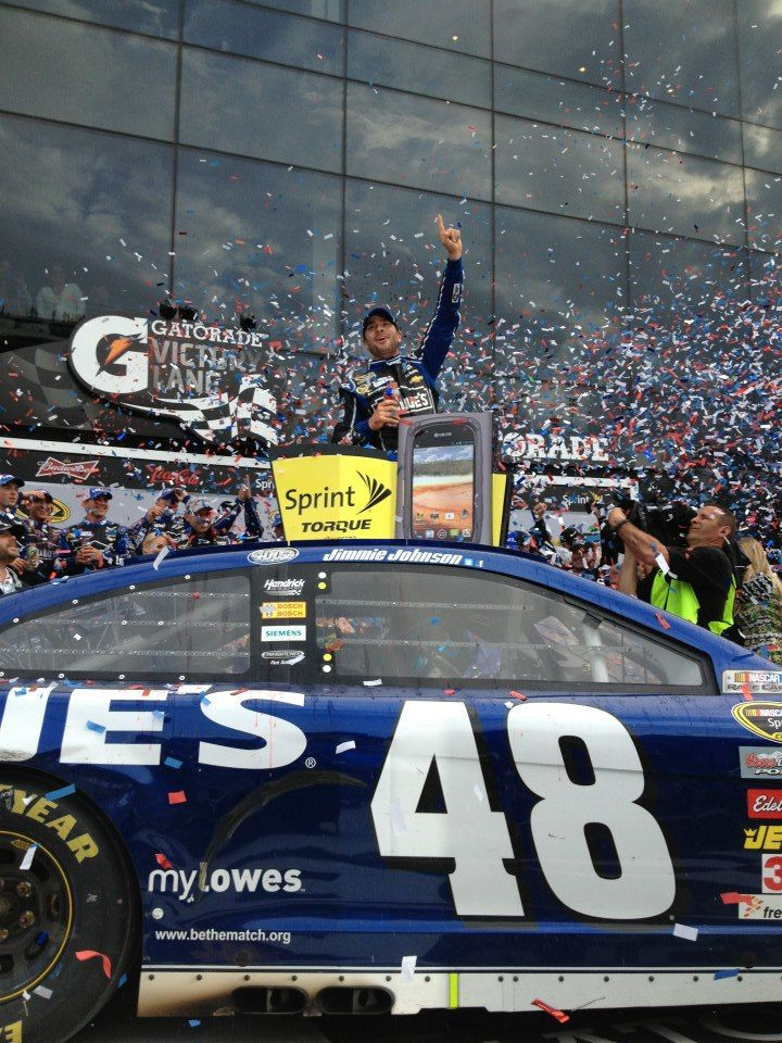 Jimmie in victory lane today!!