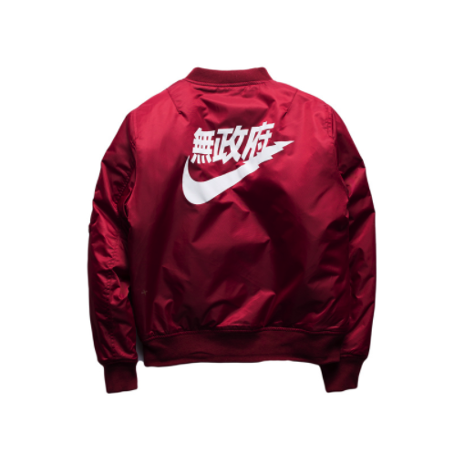 nike bomber jacket mens red sweater
