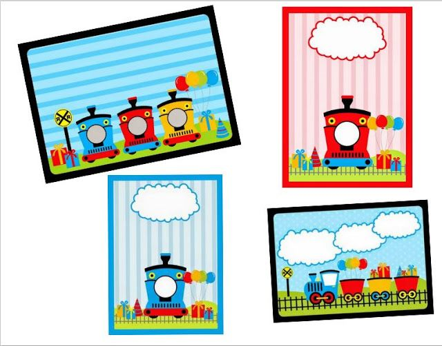 Train Party Free Printable Invitations Is It For Parties
