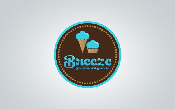 Breeze Ice Cream Shop Branding By Martin Zarian Shop Logo Design Branding Shop Ice Cream Shop