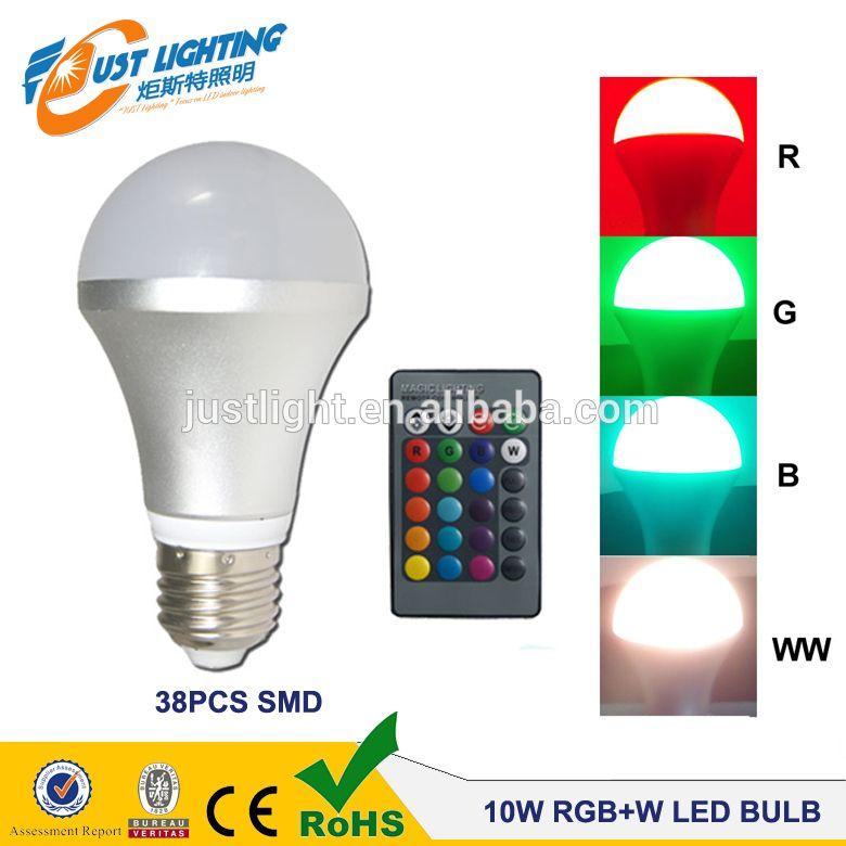 A19 Dimming 16 Color Led Change Color Lamps 9w Remote Control Rgb W Led Light Bulb E27 Led Light Bulb Led Bulb Lamp