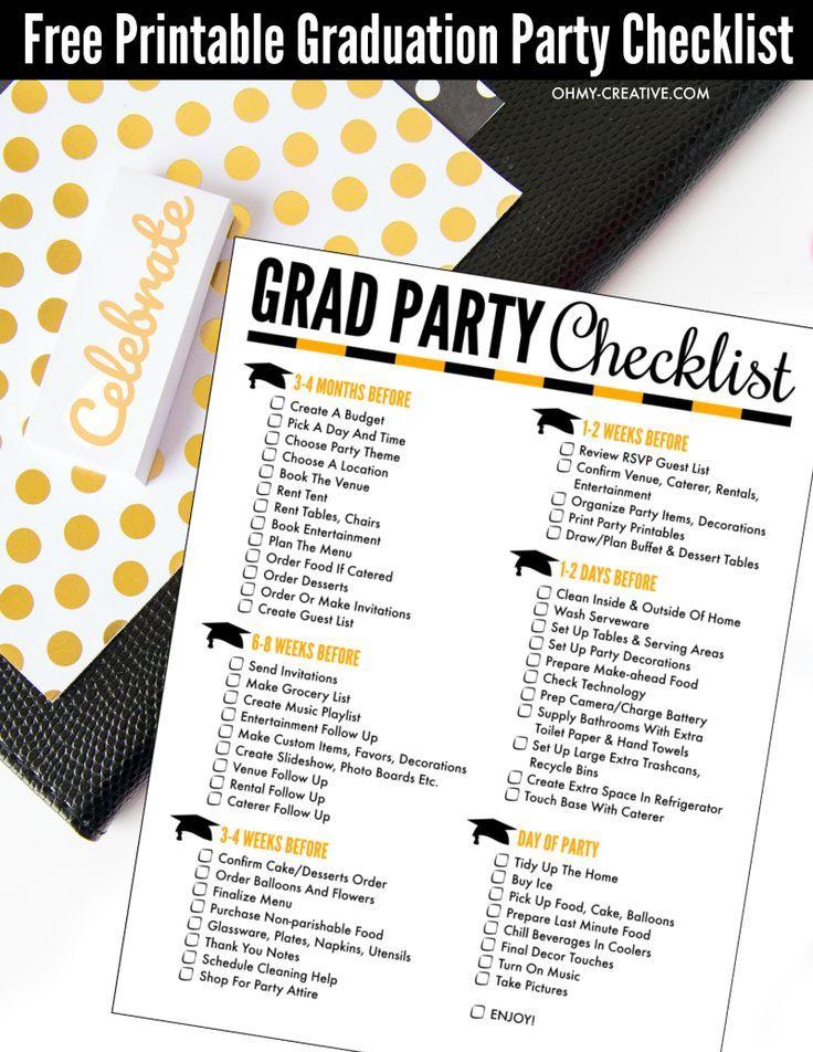 Free printable graduation party checklist free printable pdf and free printable graduation party checklist free printable pdf and creative filmwisefo Choice Image