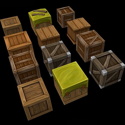 Small Boxes | Hand Painted Textures