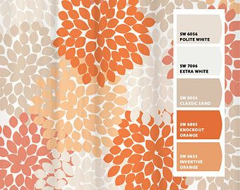 gray and orange shower curtain. Shower Curtain Gray Orange Monarch Inspired Floral Standard and Long  Lengths 88 or 96 in Let s make one your colors Peach Paradise
