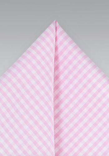 Einstecktuch Karo Pattern Rosa Perlweiss Tuch Rosa Karo