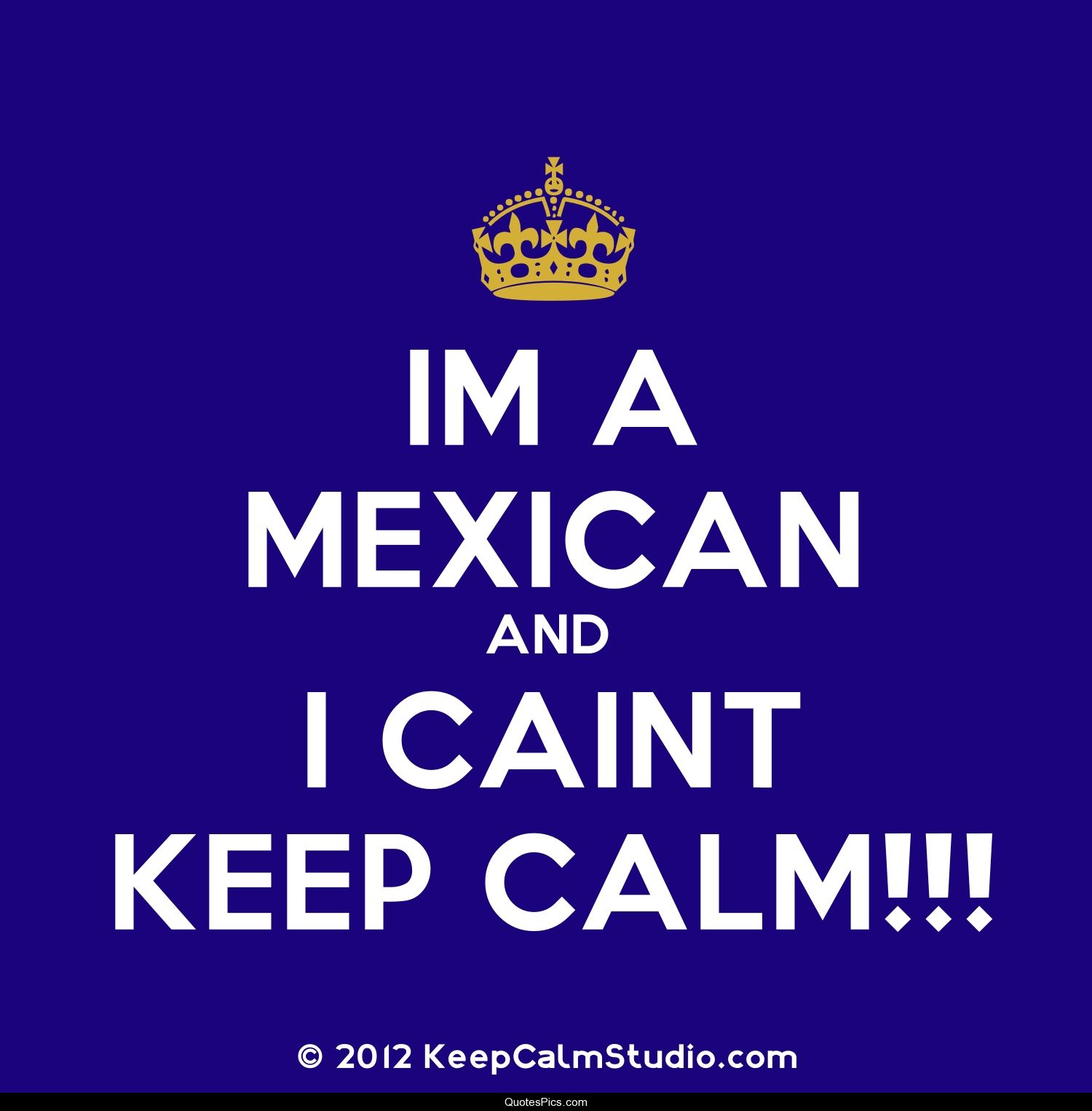 Keep Calm Quotes I'm A Mexican And I Can't Keep Calm  Anonymous  Quotes Pics