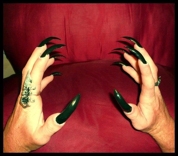 30 Great Acrylic Nail Designs - SloDive | 5. Double Team + ...