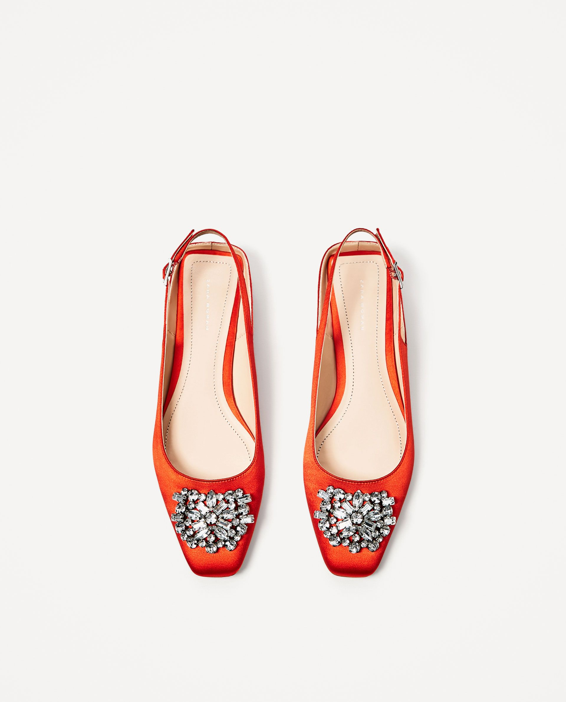 1afaf918d239 a touch of bright accessories ZARA - WOMAN - FLAT SLINGBACK SHOES WITH  BEADED DETAIL