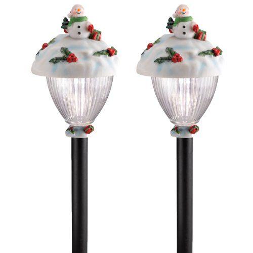 solar holiday led stake lights - Solar Christmas Pathway Lights