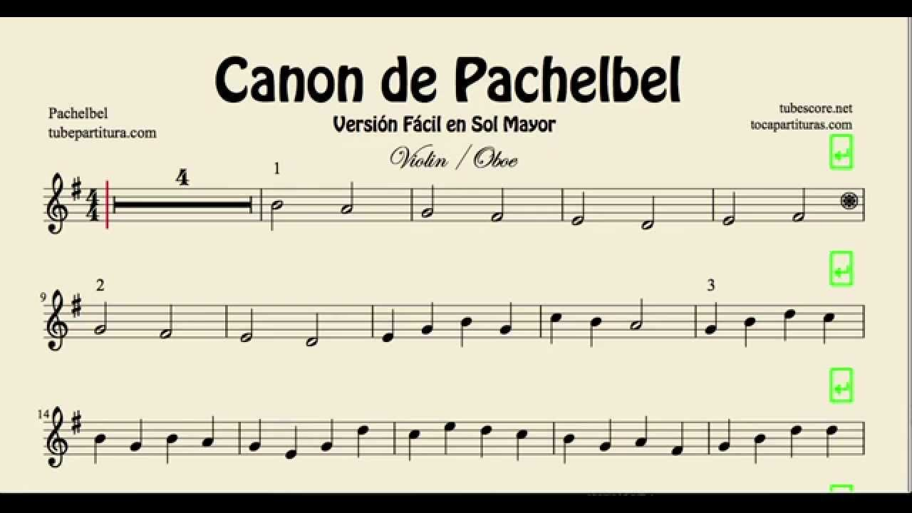 canon de pachelbel partition piano pdf