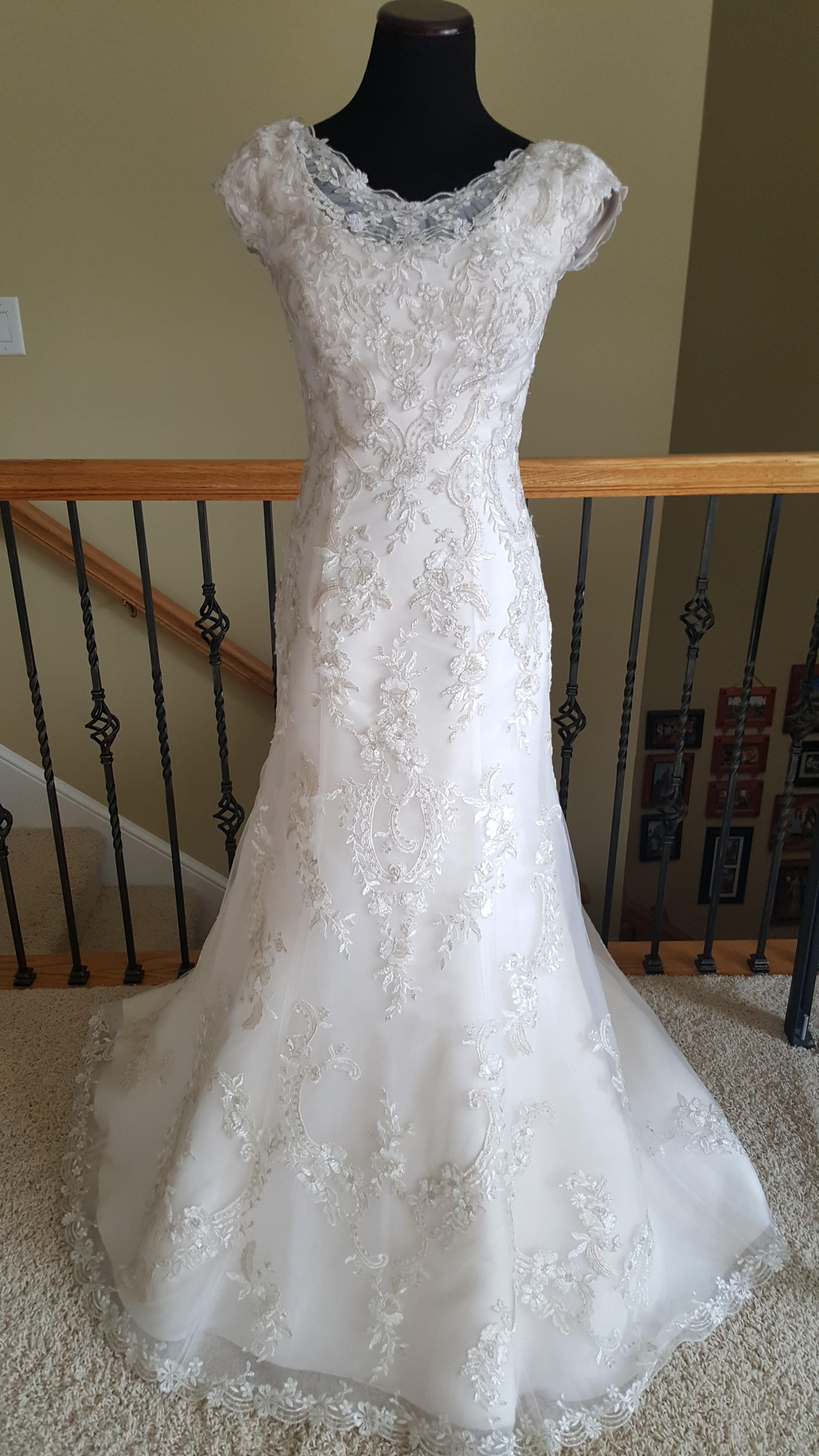 Ivory/Blush/Pewter Georgianna 6mw798 Wedding Dress   Pinterest ...