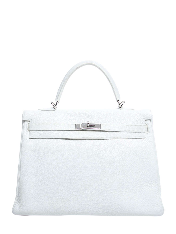 ed2e5ec67614 Vintage White Taurillon Clemence Kelly Retourne 35 Birkin Bags