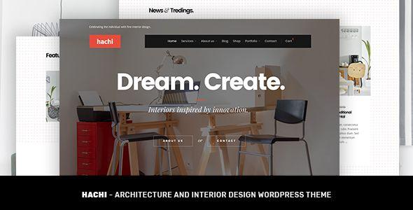 Hachi - Architecture and Interior Design WordPress Theme | Wordpress ...