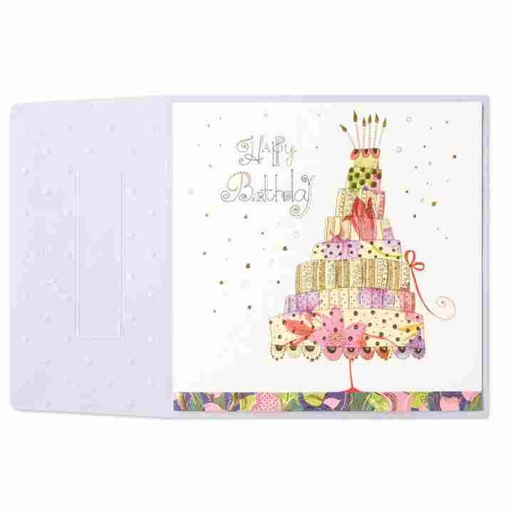 Tall Layered Cake Birthday Card Birthday Cards Pinterest Cards