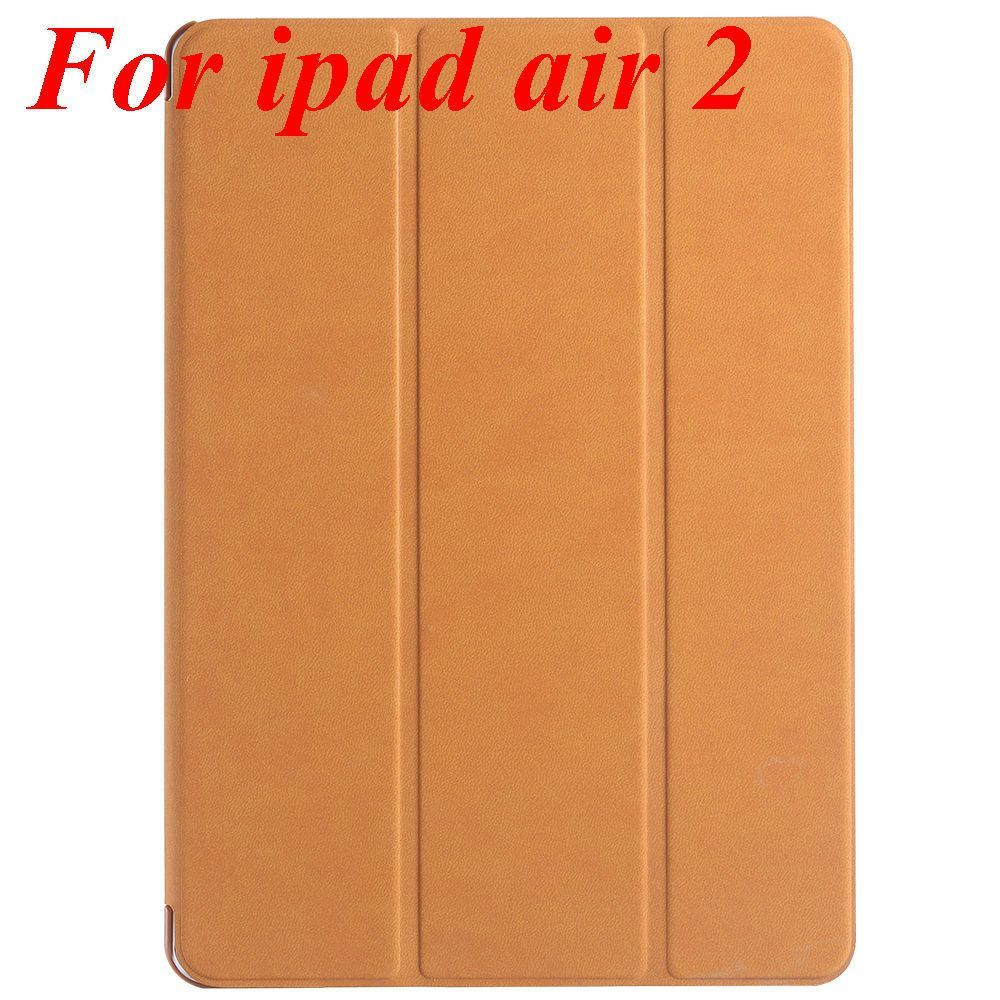 2015 Smart Sleep Awake Terse Leather Case For iPad Air 2 Ultra Thin Three Fold Tablet Stand Cover For iPad Mini 1 2 3 Retina