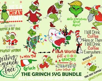 GuudiSVGStore on Etsy Grinch hands, Grinch face svg