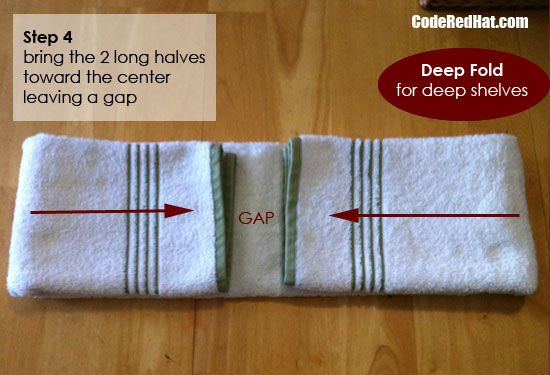 How To Fold Towels To Fit Any Shelf Organizing How To