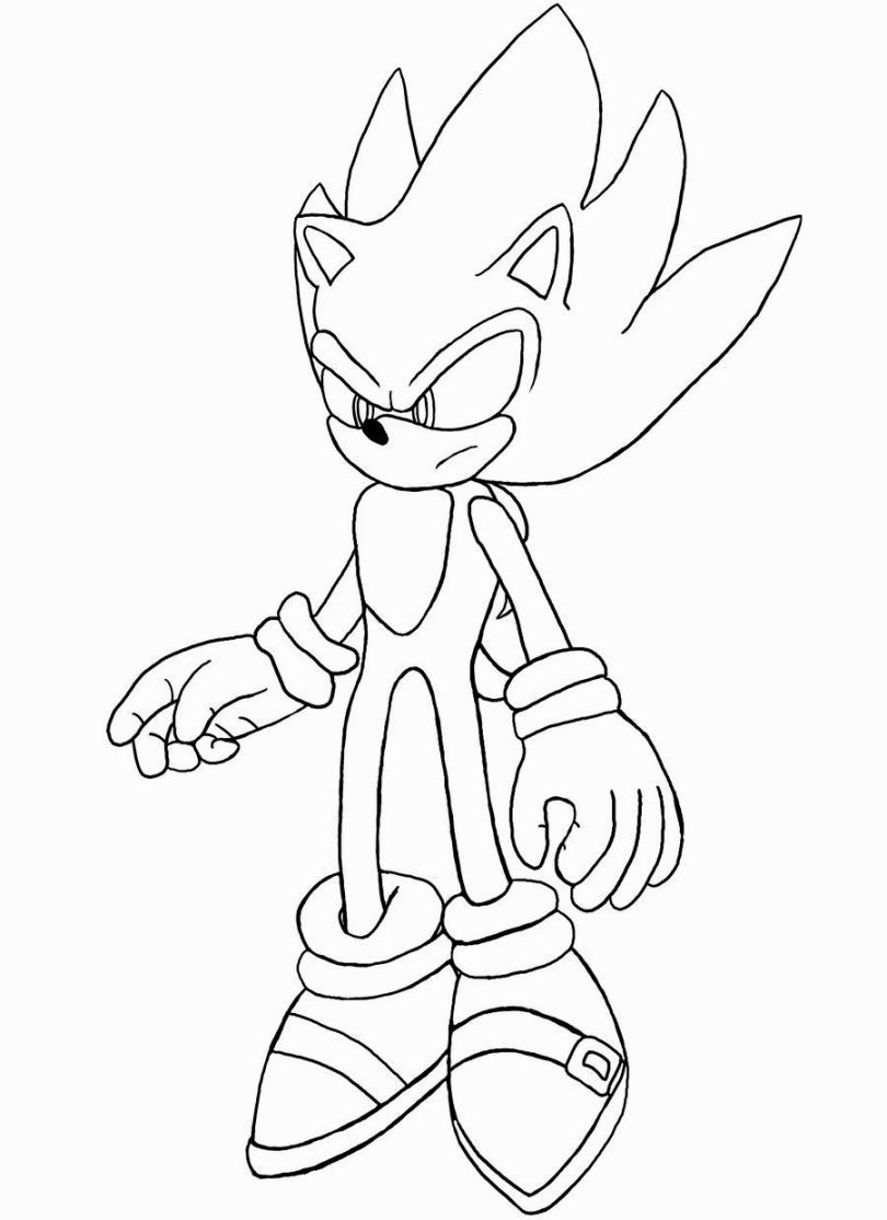 Printable Sonic The Hedgehog Shadow Coloring Pages Printable