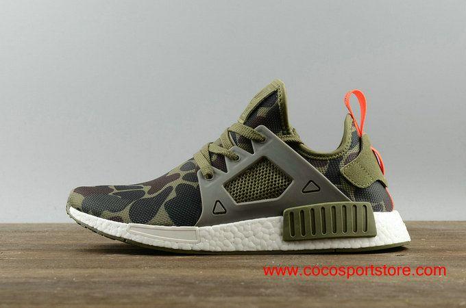 new product f7a0e 9328d Adidas NMD XR1 PK Shoes BA7232 ArmyGreen Camo Mens Originals 75.00