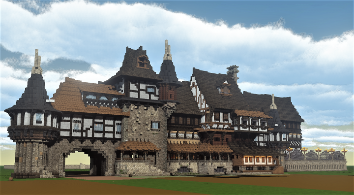 A Medieval Estate Minecraft Project Minecraft Créations