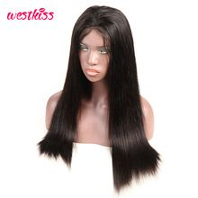 Photo of West Kiss 180% Density Straight Lace Front Wig For black Wom…