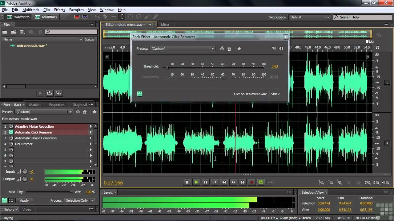 Removing Noise Using Adobe Audition Adobe Audition Audition Adobe Tutorials