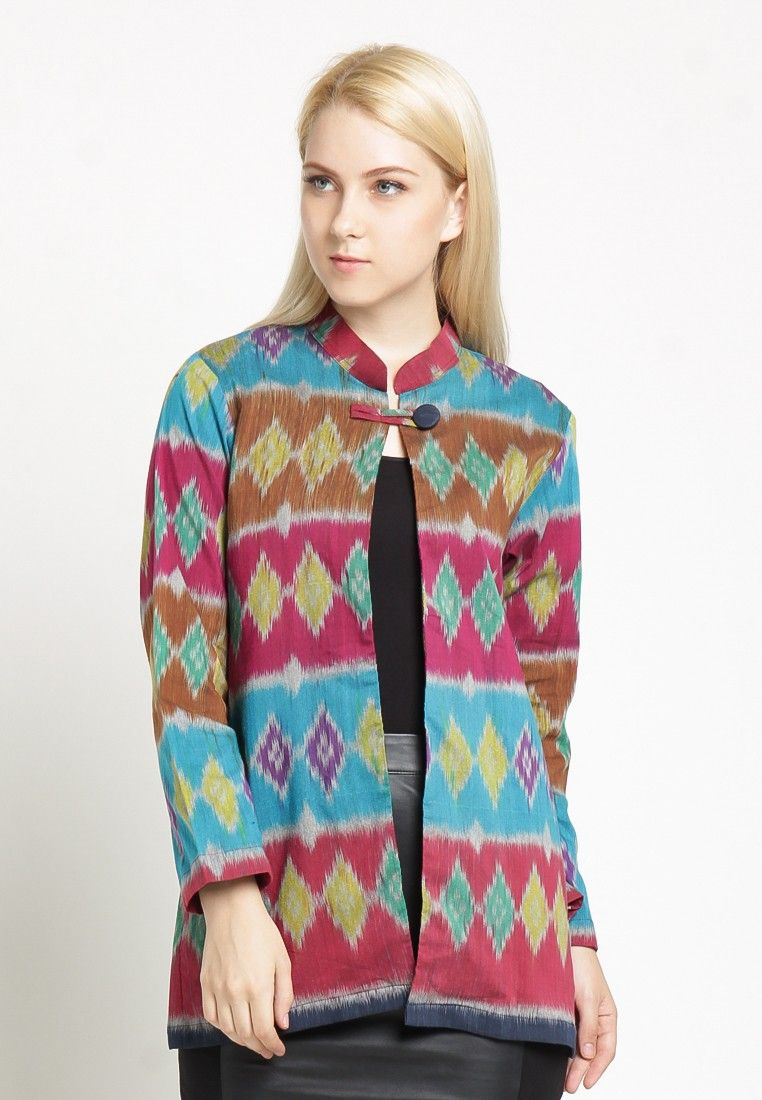 Blazer Batik Wanita Modern Terbaru Model Blazer Batik Kantor Masa