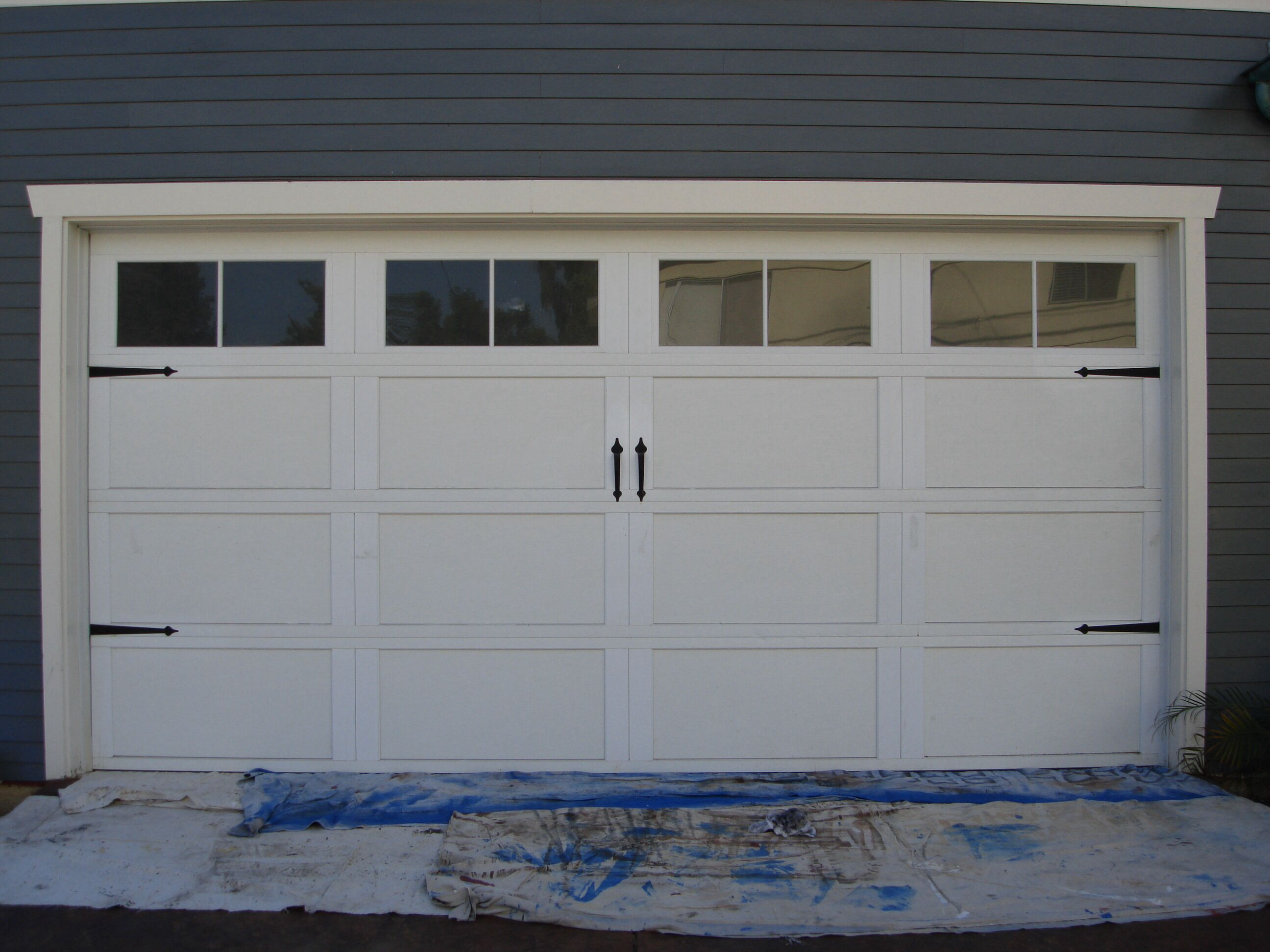 Craftsman Garage Garage Door Styles Garage Door Hardware White Garage Doors