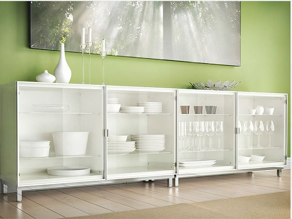 Besta Cabinet. Would Be Cute For All Of My Cake Dishes/stands/trays