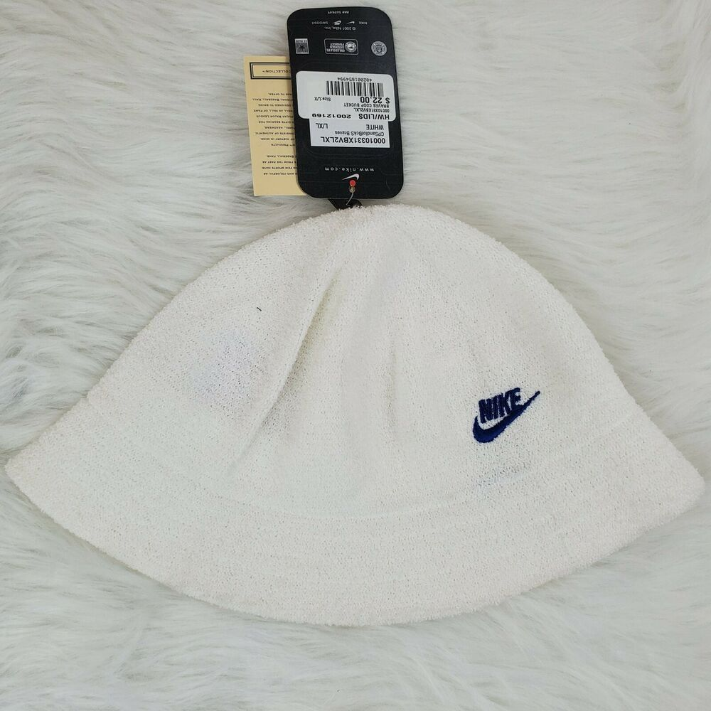 2001 Nike Atlanta Braves White Coop Bucket Hat Large Xl Terry Cloth O1262 Nike Buckethat Casual With Images Atlanta Braves Terry Cloth Bucket Hat